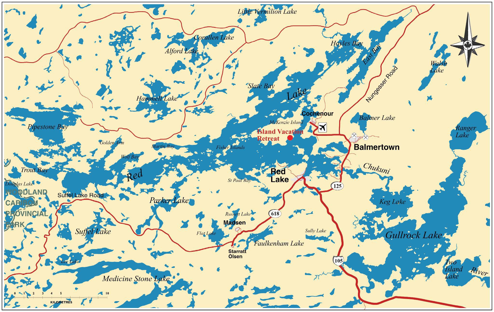 Red Lake Ontario Map Large Red Lake Map